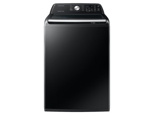 Samsung 4.4 cu. ft. Top Load Washer with ActiveWave™ Agitator and Active WaterJet in Brushed Black