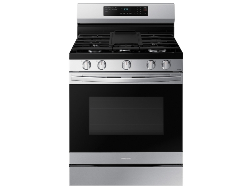 Samsung 6.0 cu. ft. Smart Freestanding Gas Range with No-Preheat Air Fry & Convection in Stainless Steel