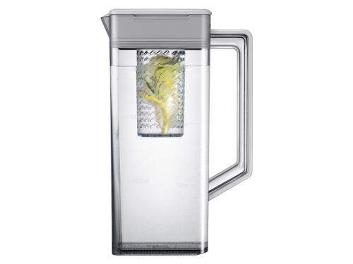 Model: RF23A9071SR   Samsung 23 cu. ft. Smart Counter Depth 4-Door Flex™ refrigerator with AutoFill Water Pitcher and Dual Ice Maker in Stainless Steel