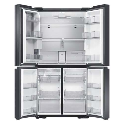 Model: RF23A9771SG | Samsung 23 cu. ft. Smart Counter Depth 4-Door Flex refrigerator with Family Hub  and Beverage Center in Black Stainless Steel