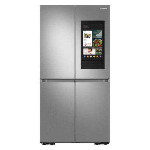 Samsung 23 cu. ft. Smart Counter Depth 4-Door Flex refrigerator with Family Hub and Beverage Center in Stainless Steel