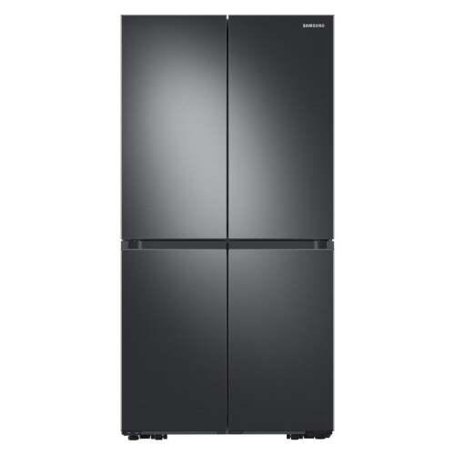 Samsung 29 cu. ft. Smart 4-Door Flex refrigerator with Beverage Center and Dual Ice Maker in Black Stainless Steel