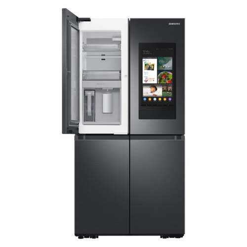 Model: RF29A9771SG | Samsung 29 cu. ft. Smart 4-Door Flex refrigerator with Family Hub and Beverage Center in Black Stainless Steel