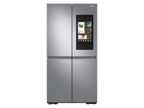Samsung 29 cu. ft. Smart 4-Door Flex refrigerator with Family Hub and Beverage Center in Stainless Steel