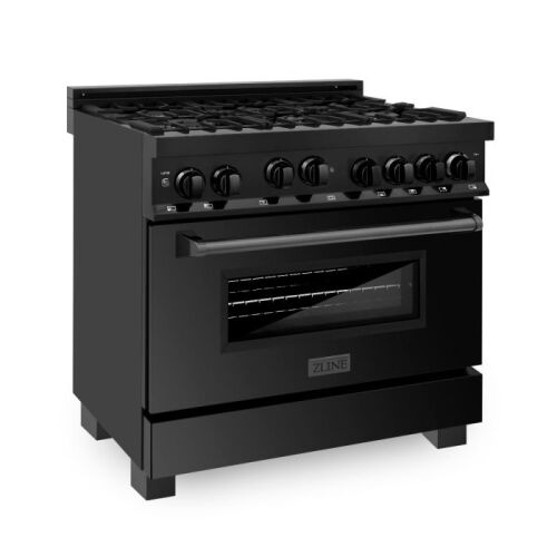 ZLINE ZLINE 36 in. Professional 4.6 cu. ft. 6 Gas on Gas Range in Black Stainless Steel (RGB-36)