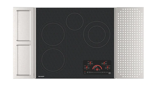 "Sharp Appliances 24"" Drop-In Radiant Cooktop with Side Accessories"