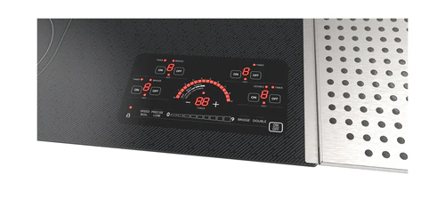 Model: SCR2442FB | Sharp Appliances 24 in. Drop-In Radiant Cooktop with Side Accessories