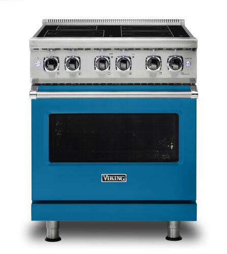 "Viking 30""W./24""D. Induction Self-Clean Range-4 Burners-Alluvial Blue"
