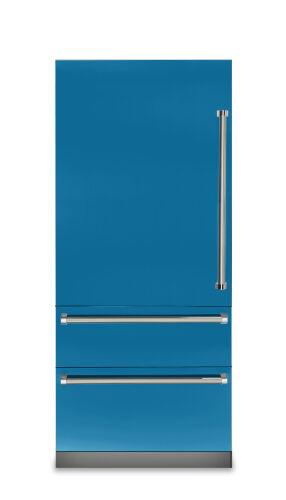"Viking 36""W. 7 Series Bottom Freezer - Alluvial Blue"