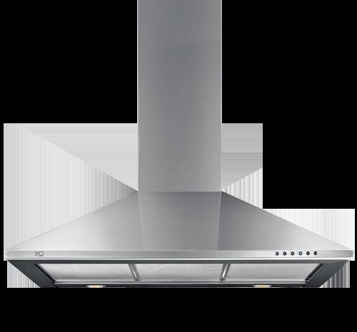"XO Appliances 24"" 600/395 CFM Italian Made Wall Mount Chimney Range Hood Stainless"