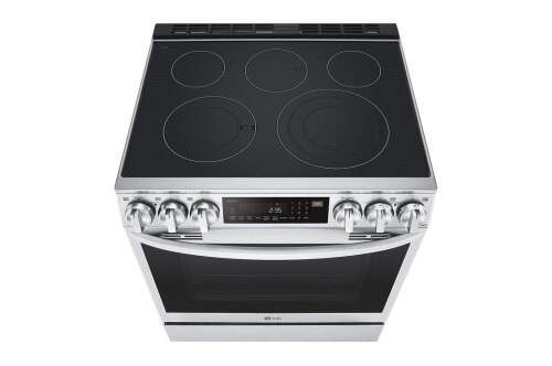 Model: LSEL6335F | LG 6.3 cu ft. Smart wi-fi Enabled ProBake Convection® InstaView® Electric Slide-In Range with Air Fry