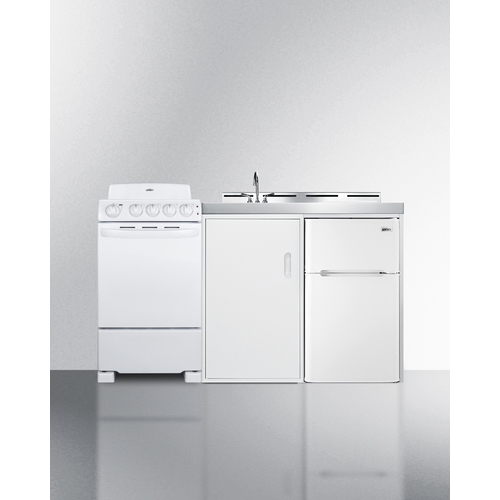 """Summit 60"""" Wide All-in-One Kitchenette with Electric Coil Range"""