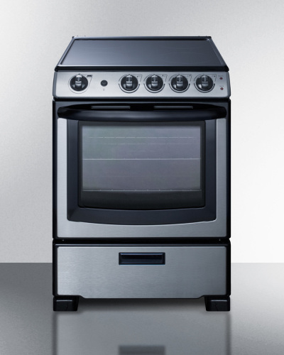 """Summit 24"""" Wide Electric Smooth-Top Range"""
