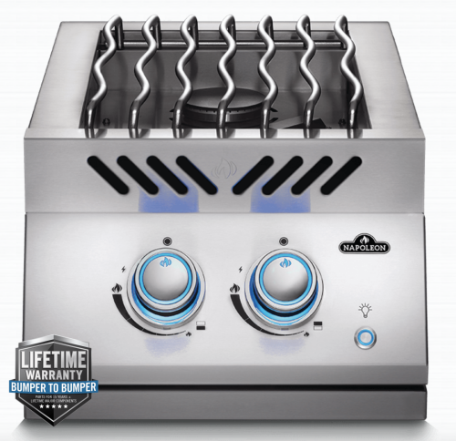 Napoleon BUILT-IN 700 SERIES INLINE DUAL RANGE TOP BURNER with Stainless Steel Cover