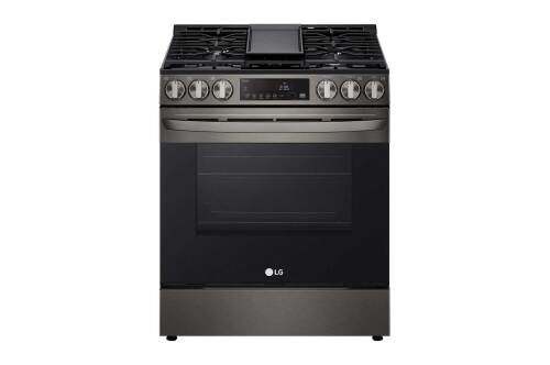LG 5.8 cu ft. Smart Wi-Fi Enabled Fan Convection Gas Slide-in Range with Air Fry & EasyClean®