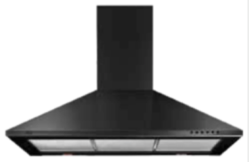 "XO Appliances XOB-30"" BLACK | WALL CHIMNEY"