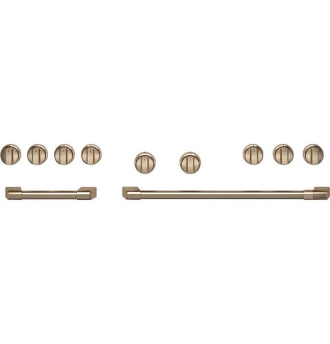 """Cafe Café™ 48"""" Brushed Bronze Handle & Knob Set"""