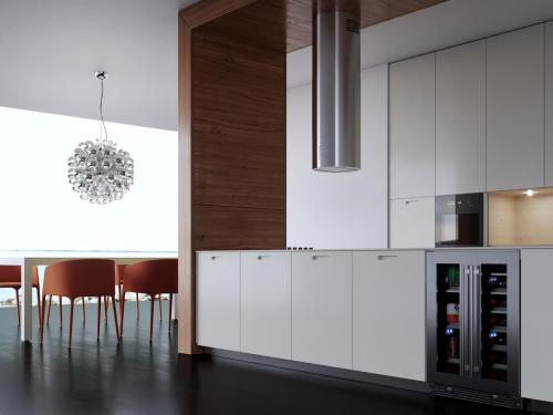 XO Appliances 600/395 CFM Designer Cylinder Island Stainless