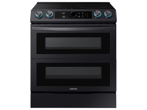 Samsung 6.3 cu. ft. Smart Slide-In Induction Range with Flex Duo™, Smart Dial & Air Fry in Black Stainless Steel