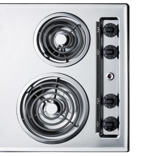 """Model: ZEL05   Summit 30"""" Wide 230V 4-Burner Coil Cooktop"""