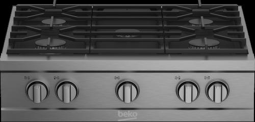 "Beko 30"" Stainless Steel Pro-Style Built-in Gas Range Top"