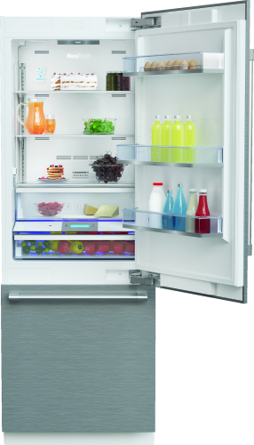 "Beko 30"" Freezer Bottom Built-In Refrigerator with Auto Ice Maker and Internal Water Dispenser"