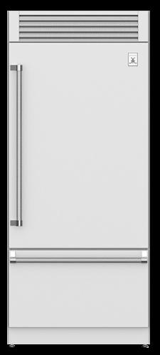 "Hestan 36"" Pro Style Bottom Mount, Top Compressor Refrigerator"